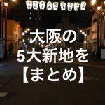 大阪の5大新地【まとめ】住所&体験レポ評価!男は黙って飛田新地